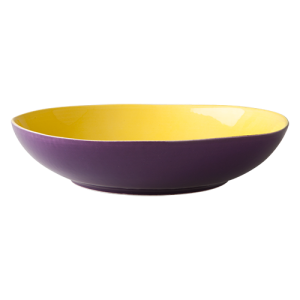 Rice-ceramic-soup-plate-soep-bord-purple-yellow-paars-geel-CESPL-YL_1
